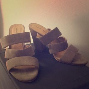 Lucky Brand Gray leather heels size 8.5